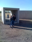 Nell and the boys with Donald Judd