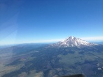 Mount Shasta on the flight from Medford, Oregon to Napa, California