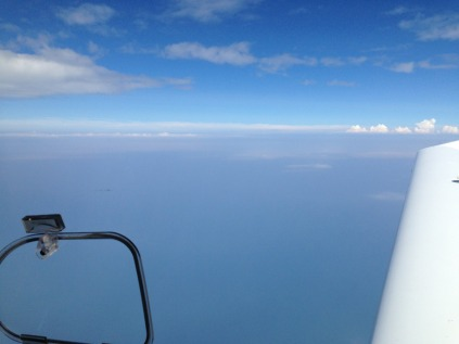 Over Lake Michigan