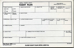 Flight Plan Form
