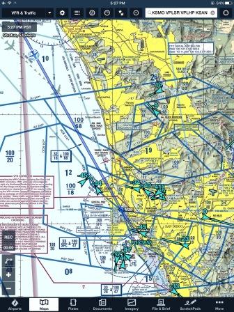 Verrrrry crowded airspace around San Diego