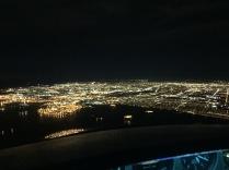 First night flight, LA Basin