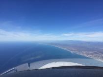 Return from San Diego, blue sky, blue ocean