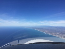 Return from San Diego, blue sky, blue ocean