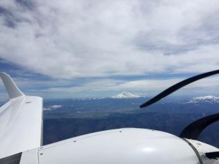 Mt Shasta as we return