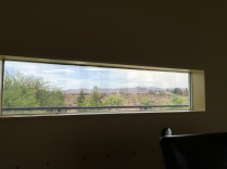 Framed view of the mountains