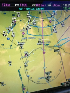 Crowded airspace approaching Phoenix