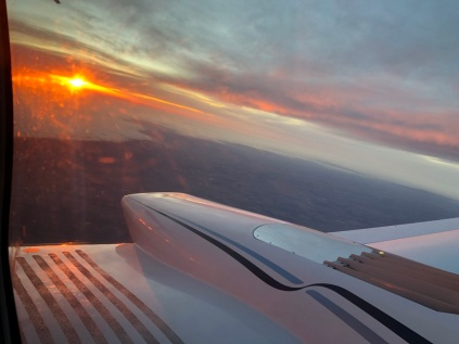 Sunset on our tail